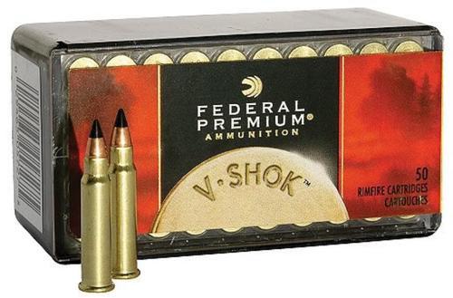 Federal Premium V-Shok Ammunition, 17 HMR, Hornady V-Max, 17 Gr, 50rd Box