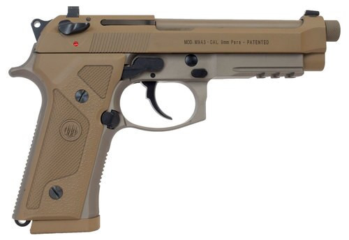 "Beretta M9 Italy Type G Single/Double 9mm, 5"" Barrel, Flat Dark, 17rd"