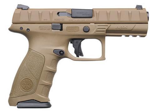 "Beretta APX Full Size Single/Double 9mm, 4.9"" Barrel, Flat Dark, 15rd"
