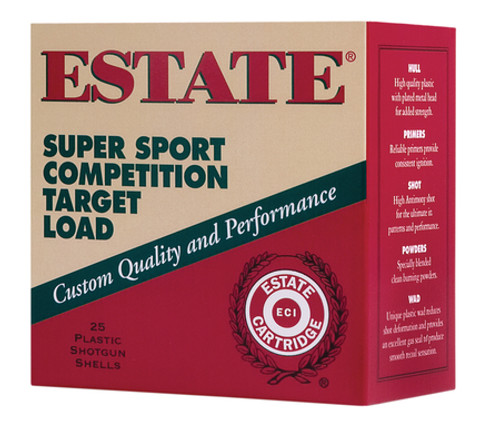 "Estate Cartridge Super Sport 12 Ga, 2.75"", 1145 FPS, 1.12oz, 7.5 Shot, 250rd/Case"
