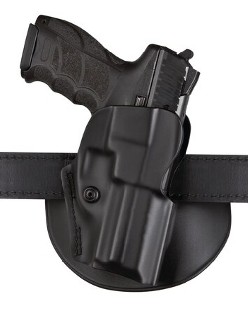 "Safariland, Model 5198, Belt Holster, Fits Glock 17/22 4.5"", 19/23 4"", Right Hand, Plain Black"