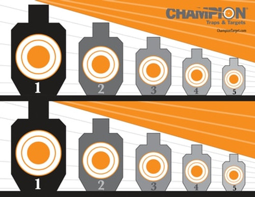 Champion Full-Color Targets Know Your Limits 8.5x11 Inches 12 Per Package