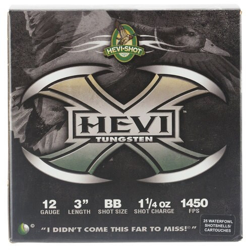 "HEVI-Shot Hevi-X Waterfowl 12 Ga, 3"", 1-1/4oz, BB Shot, 25rd/Box"
