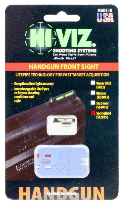 Hiviz Springfield 1911 Front Sight Green/Red/White Black