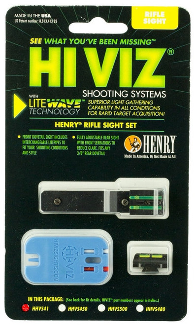 Hiviz LiteWave Henry Lever Fiber Optic Set Front Green/Red/White Rear Green