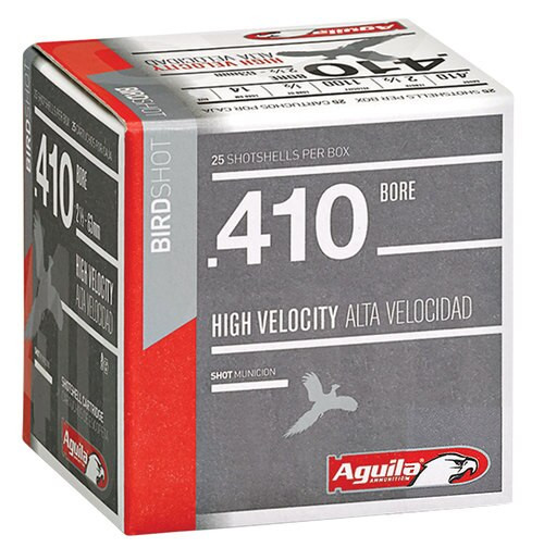 "Aguila Hunting High Velocity 410 Ga, 2.5"", 1/2oz, 7.5 Shot, 25rd/Box"