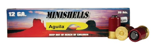 "Aguila Minishell 12 Ga, 1.75"", 7/8oz, Slug Shot, 20rd Box"