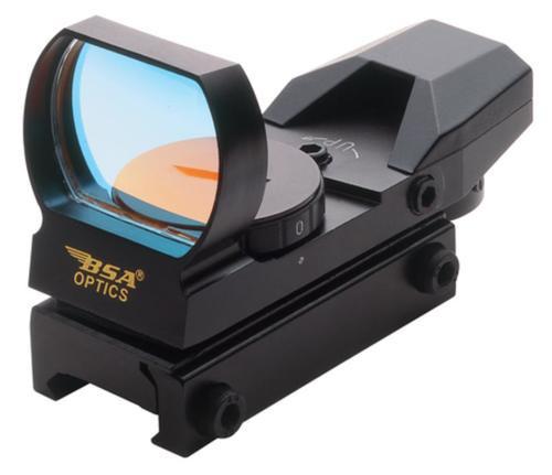 BSA Sporting Optics Panoramic Rugged Red Dot Sight, Clam Pack