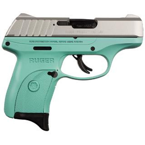 Ruger EC9S 9mm, 7rd, Stainless Steel/Turquoise TALO