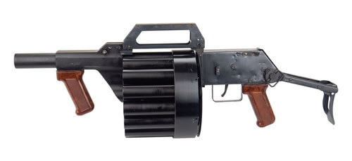 Polish RGA86 26.5mm 15 Shot Rotary Launcher- Folding Stock- NO FFL Transfer Needed: Ships as a NON- GUN!