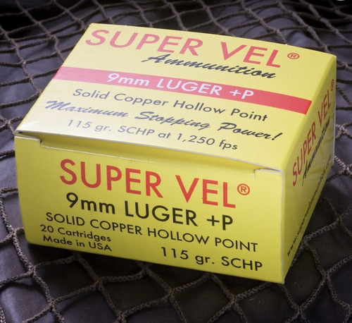 Super Vel 9MM +P Solid Copper Hollow Point 115gr, 20rd Box