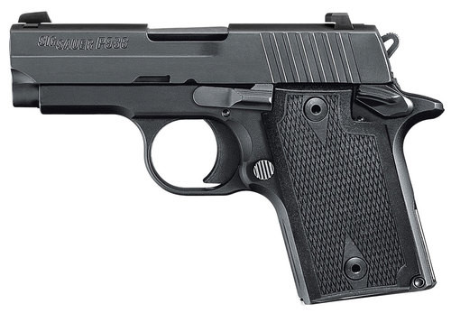 Sig P938, 9mm, 3In, Nitron, Blk, Sao, Contrast Sights, Polymer Grip, (1) 6RD Steel Mag, Ambi Safety