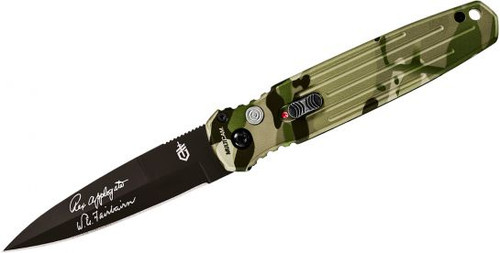 Gerber Covert Auto, Multicam, Fine Edge, Black Blade, Automatic Knives
