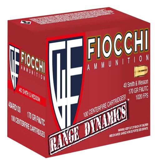 Fiocchi Range Pack 40 SW 170gr, FMJ, TC, 1000rds/Case