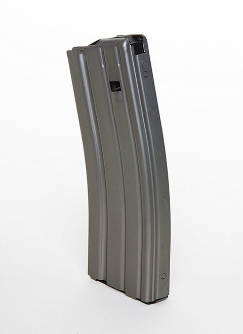 DURAMAG Magazine, 223 Rem/556NATO, 30Rd, Gray, Fits AR Rifles, Aluminum, Orange Anti-tilt AGF Follower