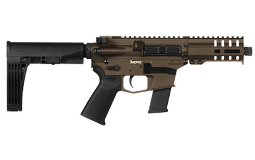 "CMMG MKG Banshee Pistol, 45 ACP, 5"" Barrel, Midnight Bronze, With Pistol Brace, 13rd Mag"