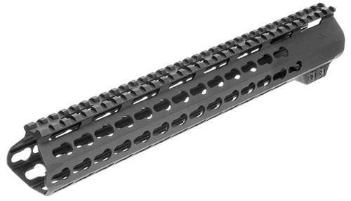 Aim Sports AR Keymod Handguard Rifle 6061-T6 Aluminum Black Hard Coat, Low, 15""
