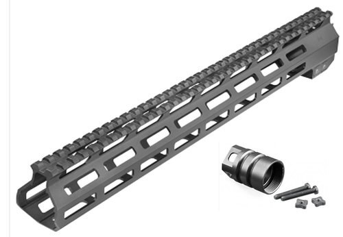 Aim Sports AR M-Lok Handguard Rifle 6061-T6 Aluminum Black Hard Coat, High, 13.5""