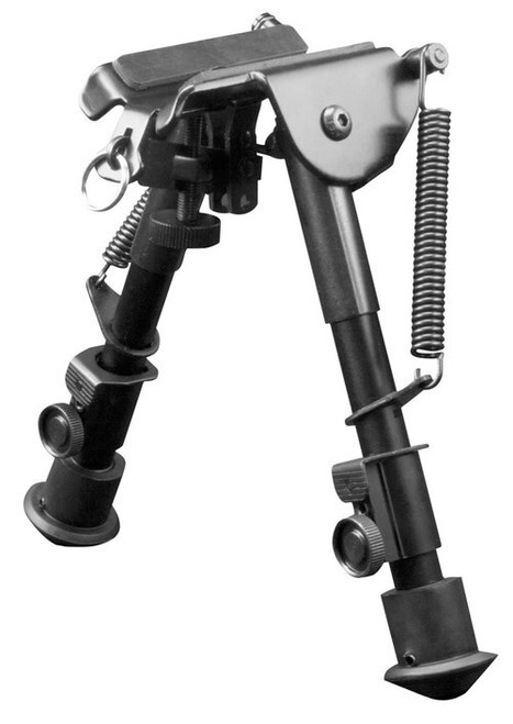 """Aim Sports H-Style Bipod Black Aluminum and Carbon Steel 6.5-9"""""""