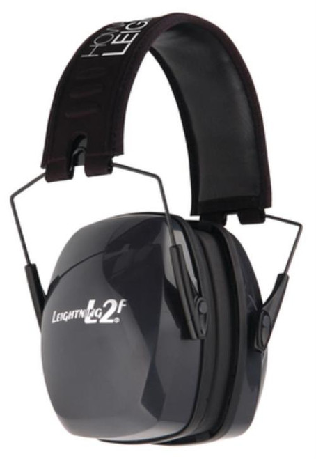 Howard Leight Leightning L2f Folding Earmuff Black Headband With Charcoal Gray Earcups