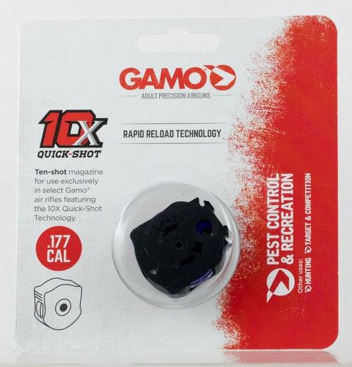 Gamo 10X Quick Shot Magazine .177 Caliber, Swarm Air Rifle, 10rd