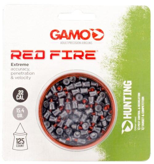 Gamo Red Fire .22 Caliber Pellet, Lead, 125 Pellets