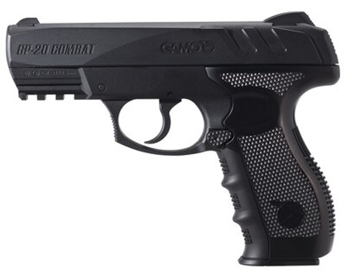 Gamo GP-20 Combat Air Pistol, .177, BB's Only, CO2, Black, 20rd
