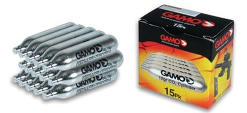 Gamo CO2 Cartridges, 12 Gram, 15 Pack