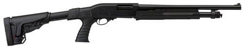 "Charles Daly Chiappa 300 Shotgun 12Ga, 18.5"" Barrel, 3"" Chamber, 5+1, Adjustable Stock, Black"