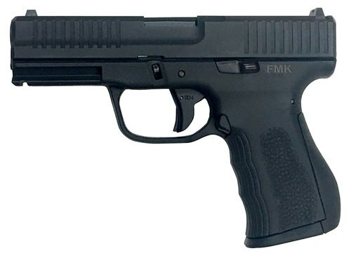 "FMK Elite Single 9mm 4"" Barrel Black Polymer Grip/Frame Grip Black OPtic Ready 14rd Mag"