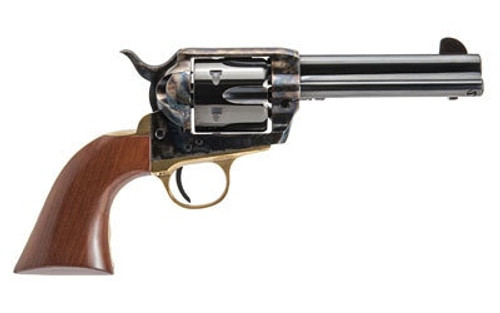 "Cimarron Pistolero Revolver, Single Action, 357 Mag/38 Special, 4.75"" Barrel, Steel Frame, Black, Walnut Grips, 6Rd PPP357"