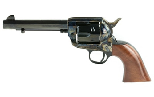"Cimarron El Malo Revolver, Single Action, 45LC, 5.5"" Barrel, Steel Frame, Blue Finish, Walnut Grips, 6Rd PP411MALO"