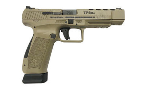 "Canik TP9SFx 9MM, 5.2"" Match Bbl, Flat Dark Earth, 2x20 Rcd Mags"