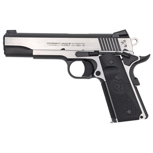 "Colt Combat Elite Government 1911 45 ACP, 5"" Barrel, SS Frame, G10 Grips, 8Rd Mag, Beavertail Grip Safety, Ambi Safety, Night Sights"