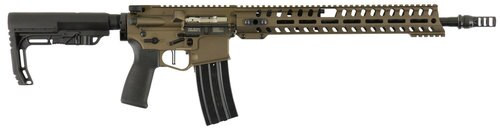 "Patriot Ordnance Factory Renegade Plus Gen4 300 AAC Blackout, 16"" Barrel, Battle Bronze, 14M"