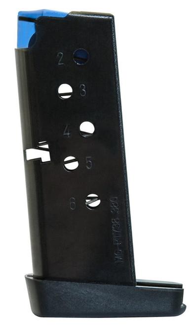 MEC-GAR Taurus 9mm 6 rd PT738/TCP Steel/Polymer Blued Finish