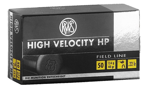 RWS 22LR 40GR High Velocity Hollow Point 50rd Box