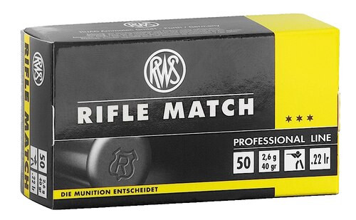 RWS 22LR Match Ammo 40gr 50rd Box