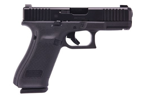 "Glock G45 Compact 9MM, 4"" Barrel, Glock Night Sights, 3- 17Rd Mags, Front Serrations, Ambi Slide Stop, Flared Mag Well"