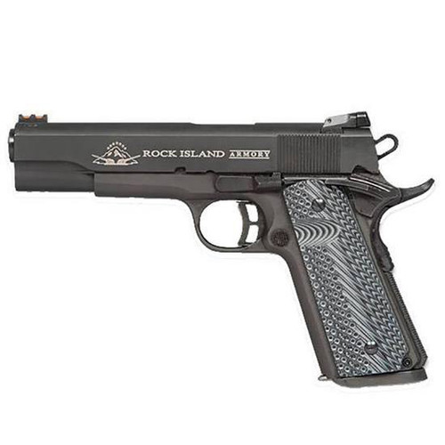"Rock Island Armory Ultra 10mm 4.25"" Barrel Fiber Optic Front Sight G10 Grips 8rd Mag"