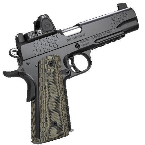 "Kimber KHX Custom 1911 Optic Included, Rail 10mm 5"" Barrel Trijicon RMR 3.25 MOA Dot 8rd Mag"