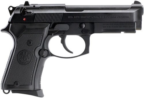 Beretta 92 Compact, Rail 9mm 4.25 Barrel, Black Synthetic Grip Black Bruniton Finish, 10rd
