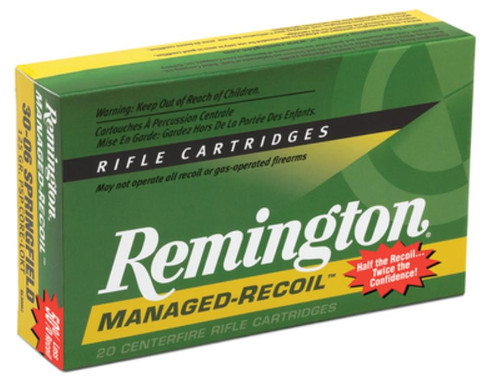 RemingtonManagd Recoil 30-06 Spg Core-Lokt PSP 125 GR 20Box/10Case