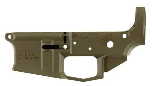 Aero Precision M4E1 Multi-Cal AR-15 Stripped Lower Receiver, Flat Dark Earth