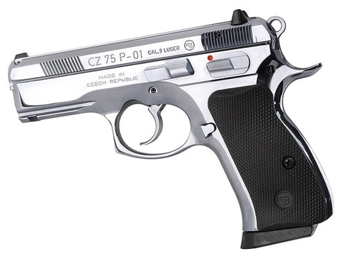 """CZ P-01 9mm, High Polished Bright Stainless Steel, 3.8"""", 14rd"""