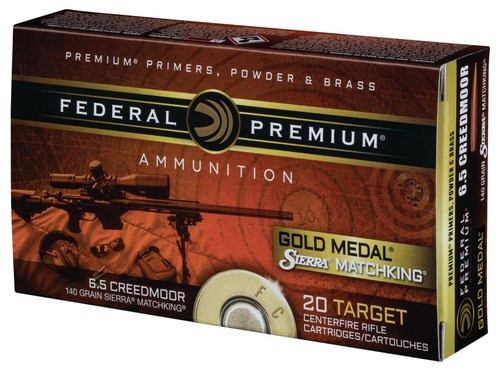 Federal 6.5 Creedmoor 140gr, 4x20rd Boxes and Bag