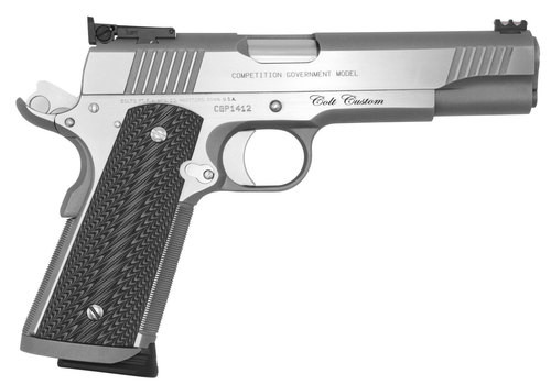 "Colt Custom Competition Series 70 45 ACP, 5"" Barrel, Red Fiber Optic Front Sight, Bomar Rear Sight, 8rd Mag"
