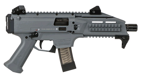 CZ Scorpion EVO 3 S1 9mm, Battleship Grey, 1/2X28 Threads, 10rd Mags