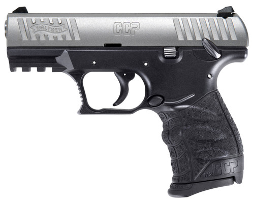 "Walther CCP M2 9mm, 3.54"" Barrel, 3-Dot Sights, Stainless/Black, 8rd"