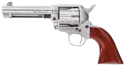 "Taylors 1873 Cattleman Floral White 45 LC, 4.75"" Barrel"